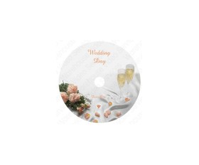 'Our Wedding Day' Embossed Writable DVD Discs