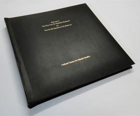 A Bespoke Leather Bound Photo Album for a Prime Minister