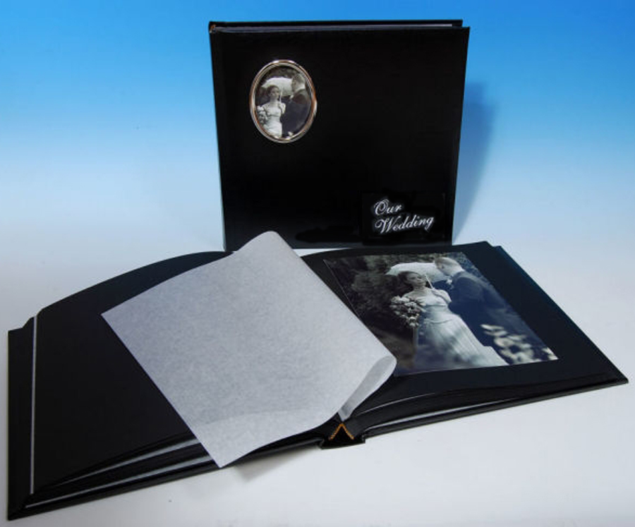 Large Black Cameo Wedding Albums 12x10 40 Pages 80 Sides