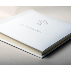 Holy Communion Photo Album embossed in Silver with Gift Box
