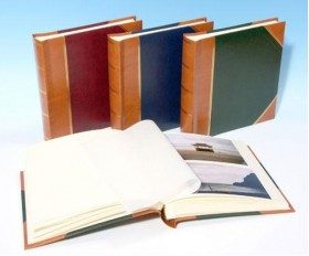 "English Library Tan Spine/Corners - Studio 80 - Traditional Photo Album - Page Size 9"" x 8 3/4"""
