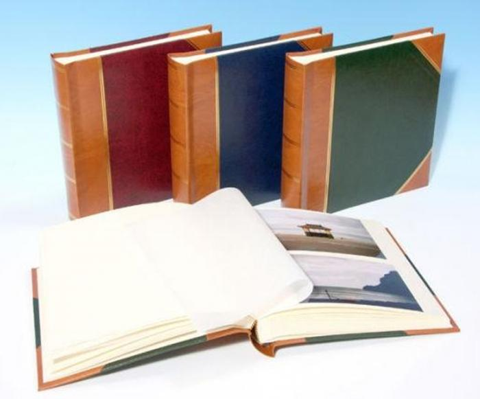 "English Library Tan Spine/Corners - Studio 80 - Traditional Photo Album - Page Size 9"" x 8 3/4"""