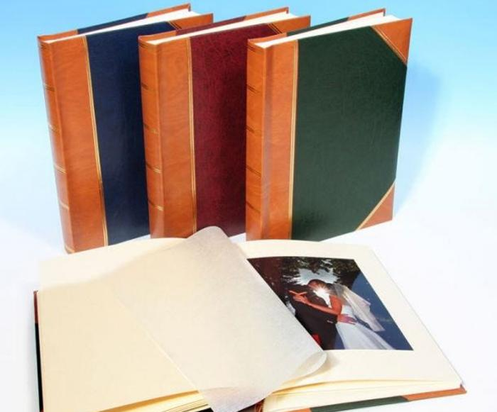 "English Library Tan Spine/Corners - Classic One - Traditional Photo Album - Page Size: 8 1/2"" x 11 3/4"""