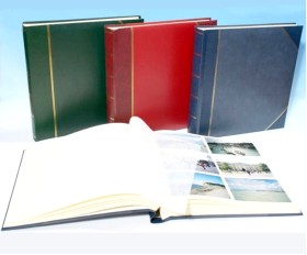 "English Library Two-Tone - Classic Two - Traditional Photo Album - Page Size 12 1/2"" x 12 1/4"""