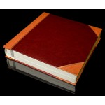 "Burgundy with Tan Spine / Tan Corners Self Adhesive Photo Album - Overall Page Size: 315 x 325mm, 12 1/4"" x 12 3/4"""