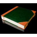 "Green with Tan Spine / Tan Corners Self Adhesive Photo Album - Overall Page Size: 315 x 325mm, 12 1/4"" x 12 3/4"""