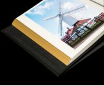 "Black Leather Self Adhesive Photo Album - Overall Page Size: 315 x 325mm, 12 1/4"" x 12 3/4"""