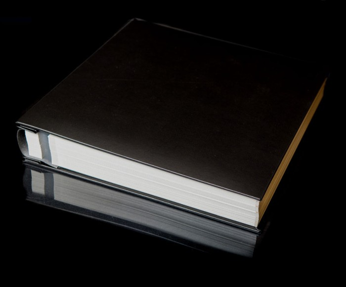 """Black Leather Self Adhesive Photo Album - Overall Page Size: 315 x 325mm, 12 1/4"""" x 12 3/4"""""""
