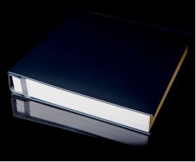 "Navy Blue Leather Self Adhesive Photo Album - Overall Page Size: 315 x 325mm, 12 1/4"" x 12 3/4"""