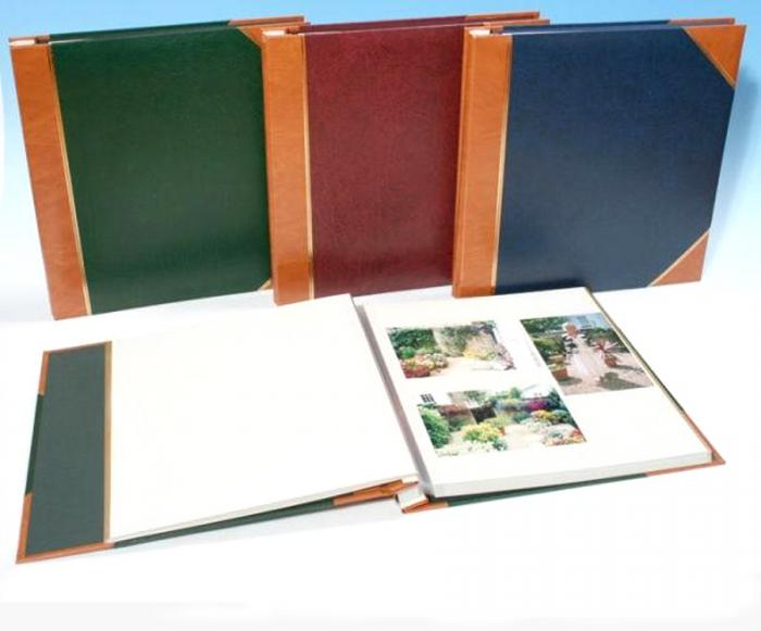 large self adhesive photo albums in green  red or blue