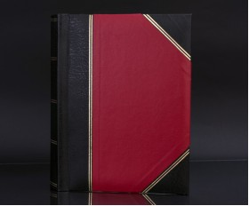 "Heritage Red Fotostore Slip-In 5""x7"" Photo Album for 200 Photos"