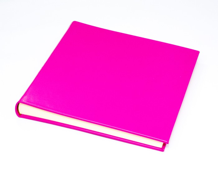 "The Chelsea Collection - Classic Two - Raspberry -  Photo Album - Page Size 12 1/2"" x 12 1/4"" inches"