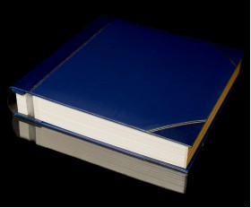 """Blue Two-Tone Cover Self Adhesive Photo Album - Overall Page Size: 315 x 325mm, 12 1/4"""" x 12 3/4"""""""