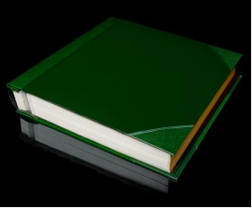 """Green Two-Tone Cover Self Adhesive Photo Album - Overall Page Size: 315 x 325mm, 12 1/4"""" x 12 3/4"""""""