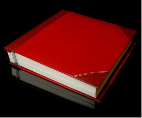 """Red Two-Tone Cover Self Adhesive Photo Album - Overall Page Size: 315 x 325mm, 12 1/4"""" x 12 3/4"""""""