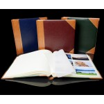 "Traditional Photo Album - English Library Tan Spine/Corners - Classic Three - Page Size 13 3/4"" x 13 3/4"""