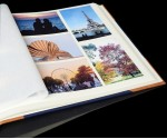 "Traditional Photo Album - English Library Tan Spine/Corners - Classic Four - Page Size: 16 1/2"" x 13 3/4"""