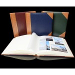 "Traditional Photo Album - English Library Tan Spine/Corners - Classic Two - Page Size 12 1/2"" x 12 1/4"""
