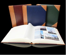 """English Library Tan Spine/Corners - Classic Two - Traditional Photo Album - Page Size 12 1/2"""" x 12 1/4"""""""