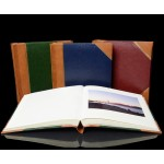 "Traditional Photo Album - English Library Tan Spine/Corners - Studio 80 - Page Size 9"" x 8 3/4"""