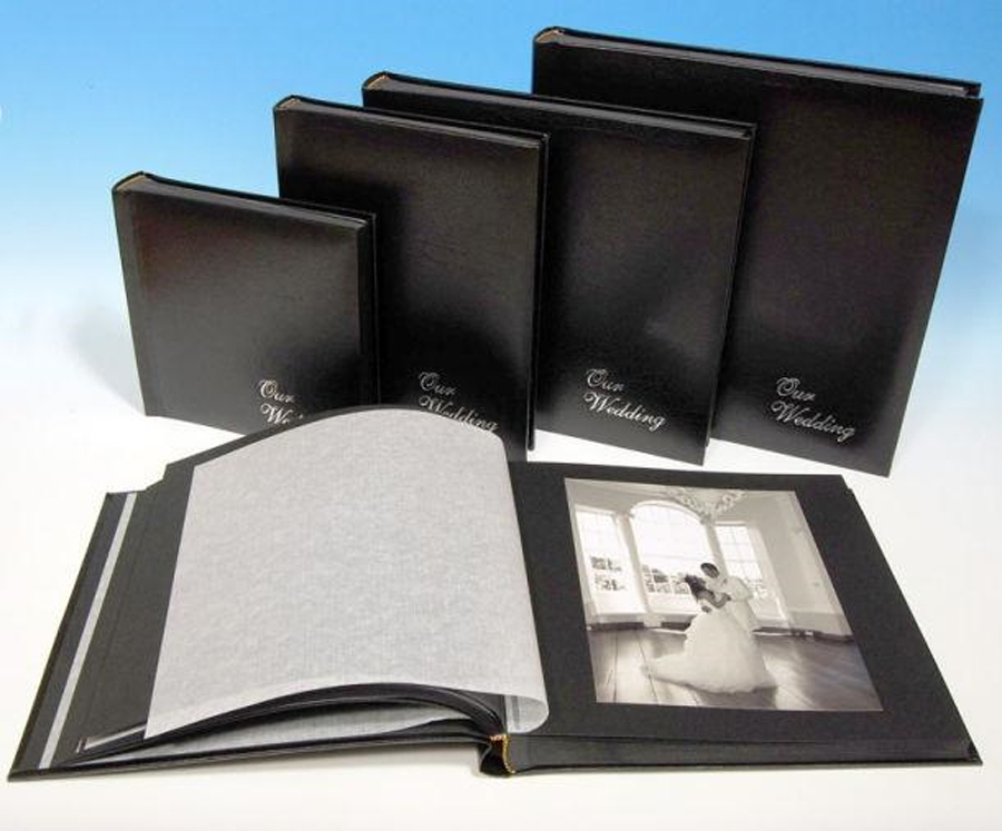 Classic Two Handmade Black Wedding Albums With Pages