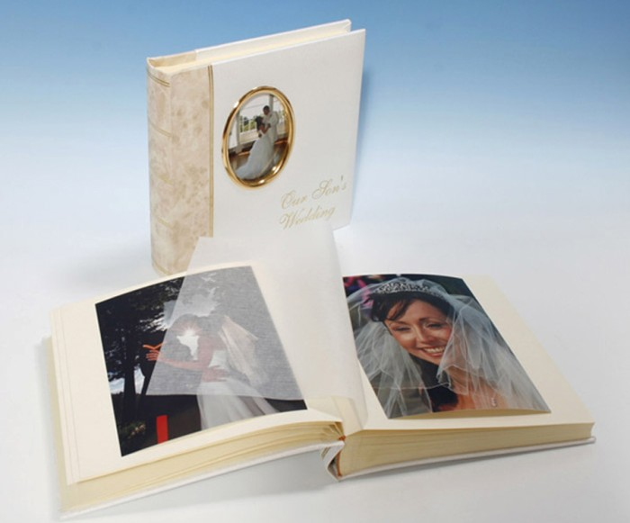 "Harmony Classic Studio 80 - Parents Cameo Wedding Album - Page Size 9"" x 8 3/4"""