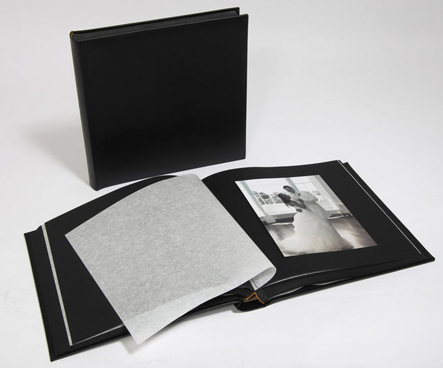 leather wedding photo album classic two black black pages page size 12