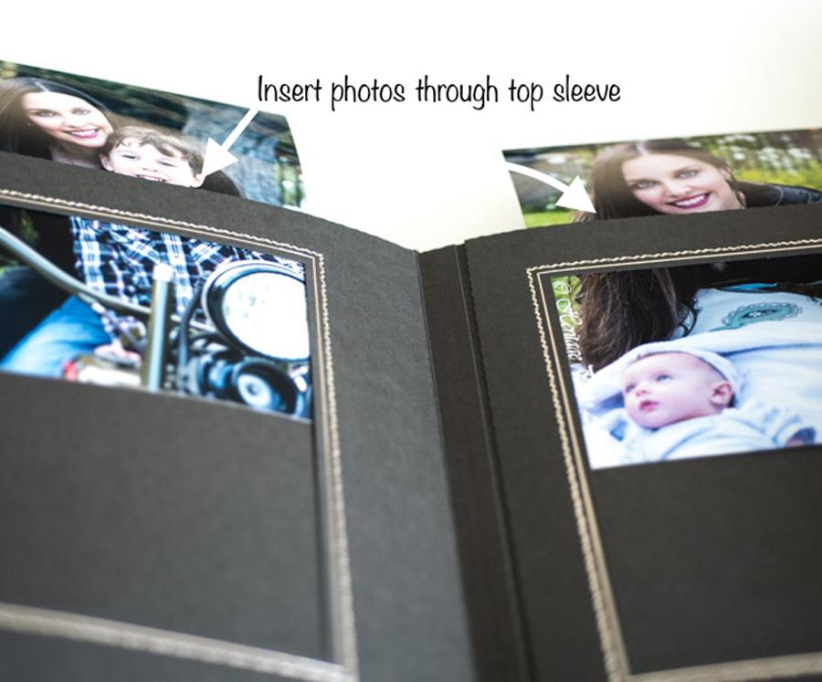 Heritage Slip In Easy Fill 5x7 Wedding Album In Black