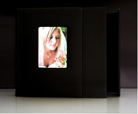 "Black Slip In Wedding Photo Album for 50 - 12"" x 12"" - Digital Photos"