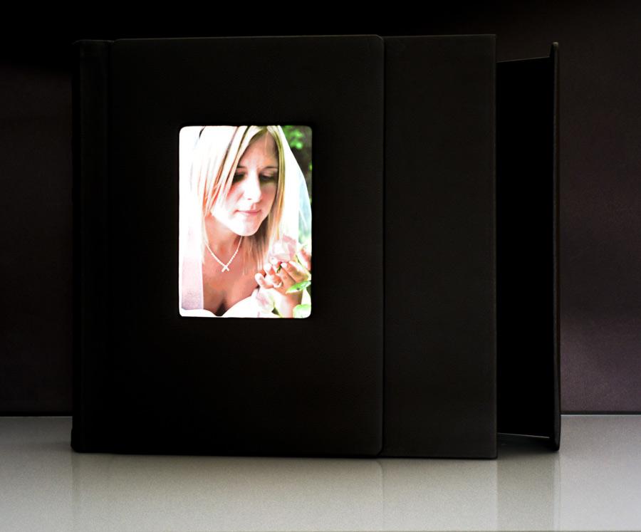Black Slip In Wedding Photo Album For 50 12 X 12 Digital Photos