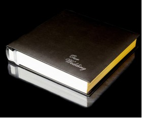 Black Leather Self-Adhesive Wedding Photo Album