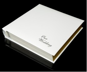 Ivory White Leather Self-Adhesive Wedding Photo Album