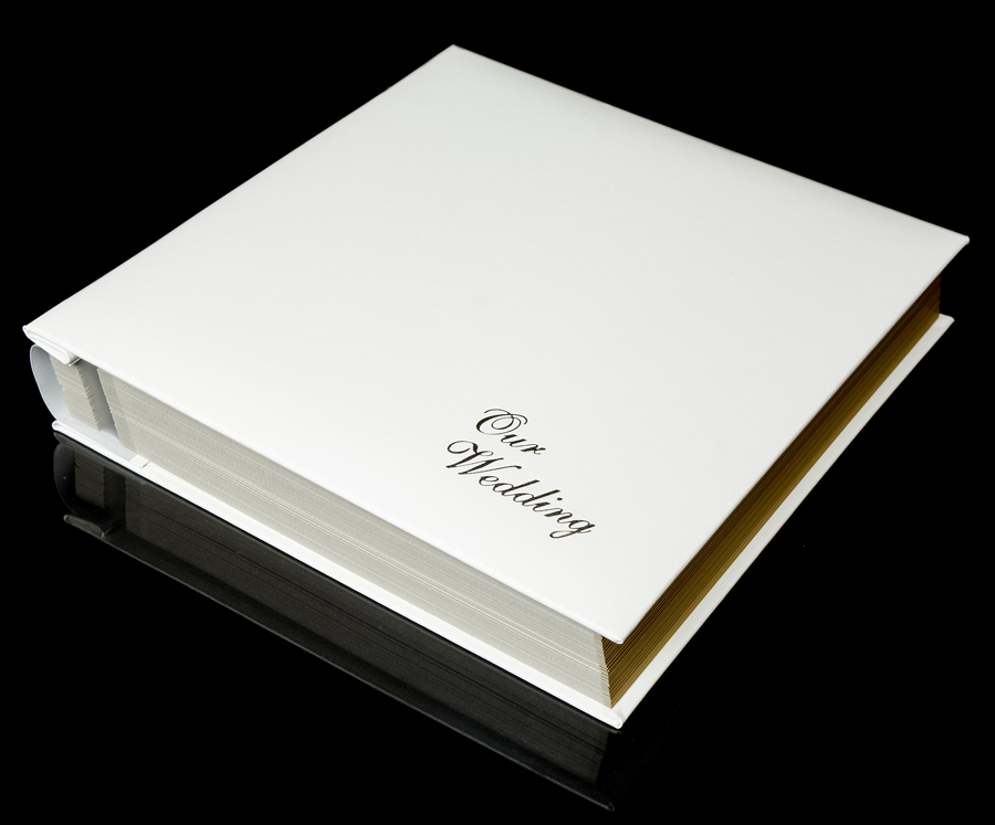 White Leather Self Adhesive Wedding Photo Album