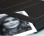"Black Slip In Wedding Photo Album for 30 or 50 - 5"" x 7""  - Portrait Photos"