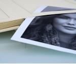 """Cream Slip In Wedding Photo Album for 30 or 50 - 8"""" x 10"""" - Portrait Photos"""