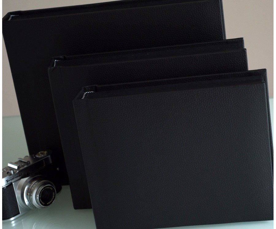 Black Slip In Wedding Photo Album For 30 Or 50 5 X 7 Landscape Photos