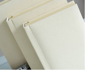 "Cream Slip In Wedding Photo Album for 30 or 50 - 8"" x 10"" - Portrait Photos"